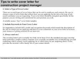 3 tips to write cover letter for construction project manager construction manager cover letter