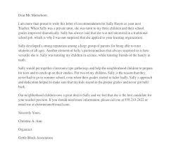Teacher Reference Letter Teacher Recommendation Letter Sample Sample