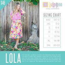 Lularoe Lola Skirt Sizing Chart Styling Lularoe Lola