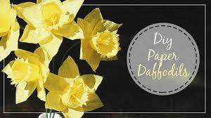 Daffodil Paper Flower Pattern How To Make Crepe Paper Daffodils Youtube