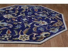 st croix paradise blue octagon area rug