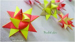 Christmas Craft Origami Froebel Star Diy Paper Star Christmas Craft Youtube