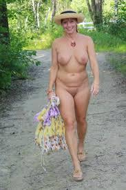 Beautiful mature nude outdoor