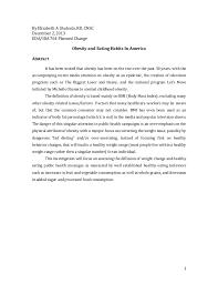 obesity epidemic research paper  1 by elizabeth a shubsda rd cnsc 2 2013 eda ida