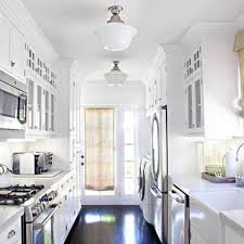 Impressive White Country Galley Kitchen 8 eoscinfo