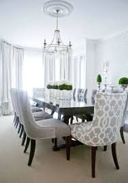 blue damask dining chair room ideas