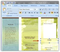 How To Do A Brochure On Microsoft Word 2007 How To Make A Brochure On Microsoft Word 2007 Carlynstudio Us