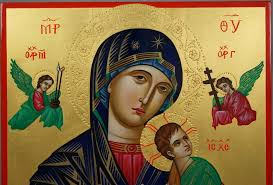our lady of perpetual help hand painted orthodox icon