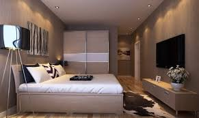 bedroom with tv. Master Bedroom Interior Design With Tv Wall And Wardrobe Download Intended For I