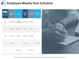 Weekly Task Schedule Employee Weekly Task Schedule Ppt Portfolio Clipart Images