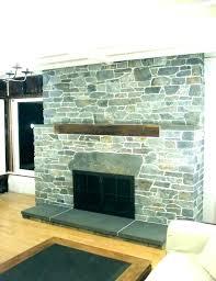 fake wall fireplace rock faux stone panels white pa remove fake wall fireplace