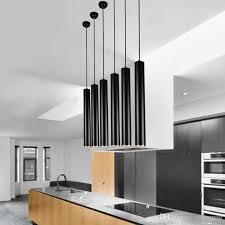 ed black pendant lamp lights kitchen island dining living room decoration cylinder pipe pendant lights kitchen light red pendant lighting low voltage
