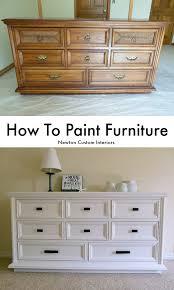 white furniture paintHow To Paint Furniture  Newton Custom Interiors