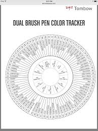 Tombow Dual Brush Pen Blank Color Chart Tombow Color Chart Tombow Dual Brush Pen Brush Pen