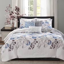 madison park raven 6 piece quilted coverlet set