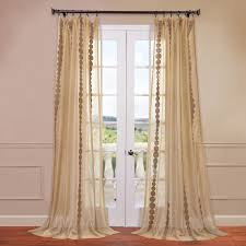 rhodes embroidered sheer rod pocket single curtain panel