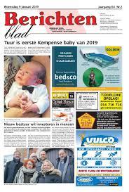 Berichtenblad 09 01 2019