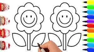 Tranh tô màu bông hoa dành cho các bé mới tập tô - Phú Long Blog
