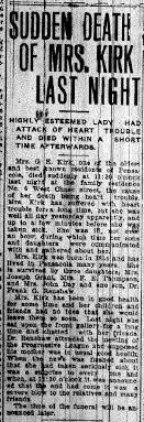 Anne Healy's Genealogy: Brosnahan / Brosnaham Family: Obituary of  Georgianna Eugenia Kirk