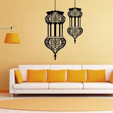 57x89 5cm muslim chandelier vinyl wall stickers removable art mural for home decoration kids bedroom tree wall stickers for bedrooms unique wall decals from