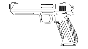 Small Picture Gun coloring pages free to print ColoringStar