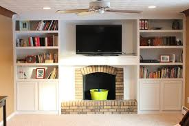 diy built in bookshelves around fireplace american hwy