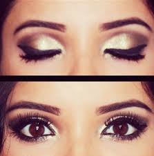 cat eye on big brown eyes oh so chic visit beauty for more