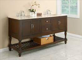 70 vintage double bathroom vanity cabinet beige marble top