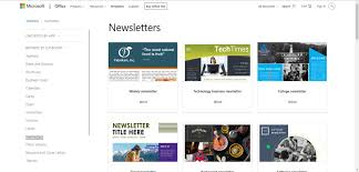 Free Newsletter Layouts Free Newsletter Templates For Print And Web