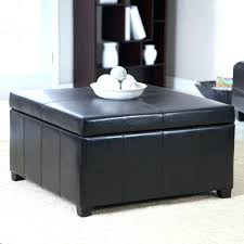 large size of black square modern leather ottoman storage coffee table intended for chest trunk wood