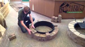 Block Fire Pit Kit How To Build A Fire Pit Fire Ring Youtube