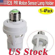Light Bulb Motion Sensor Adapter Motion Sensor Light Bulb Lamp Socket Adapter Infrared Sensor For E26 E27 Base