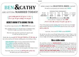 Fun Wedding Programs Wedding Programs Paper Crafts Creations
