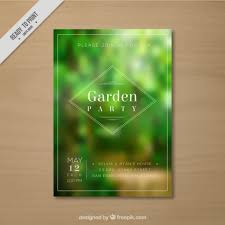 Small Picture Unfocused vegetation garden party card Vector Free Download