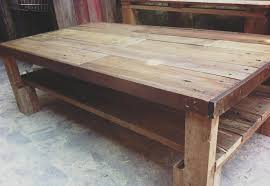 pallet large size coffee table