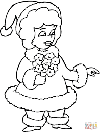 Small Picture Mrs Santa coloring page Free Printable Coloring Pages