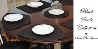 black slate table mats and coasters wilko glitter placemats sweet pea linens suede collection of for