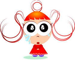 CARTOON GIRL CRYING FACE IMAGE - Crying Cartoon Girl. Flat Design Icon.  Colorful Flat ...