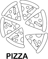 Small Picture Food Coloring Pages Tasty Pizza Coloring Pages Of Food Kawaii