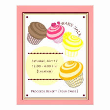 Bake Sale Flyer Templates Free Bake Sale Flyer Template Free Best Of Bake Sale Flyer