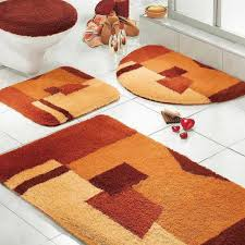 awesome orange red bathroom rug sets bed bath and beyond for exciting bathroom design