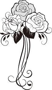 画像サンプル バラ装飾用 陶芸図案ヒント集 バラ イラストバラ
