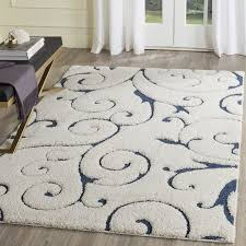 modern navy and cream rug three posts alison blue area reviews wayfair best