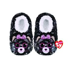 Beanie Boo Slippers Size Chart Beanie Boo Kiki Black Cat Slippers