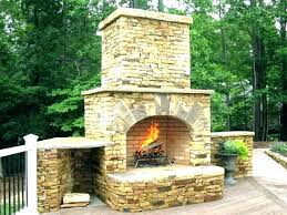 stone fireplace cost build