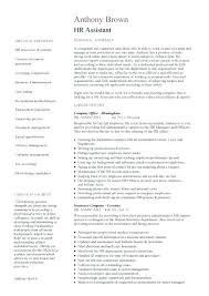 Hr Assistant Duties Human Resource Administration Resume Hr Resources Job Description
