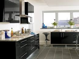 black kitchen design ideas. black high gloss lacquer ki.glossy kitchen cabinet design home interiors kitchen ideas