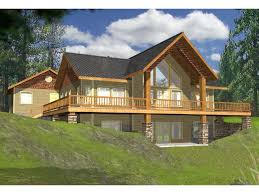 house plans walkout basement wrap around porch elegant lake house plans with rear view wrap around