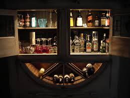 wall mounted liquor storage cabinet