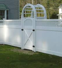 vinyl fences with a gate MA Vinyl Fence Gate Front yard fences